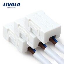 Livolo адаптера Lightning, Спасителя Самая низкая цена-Потребляемая мощность светодиодный лампы(за исключением затемнения светодиодных ламп, белый Пластик материалы 3 шт./лот