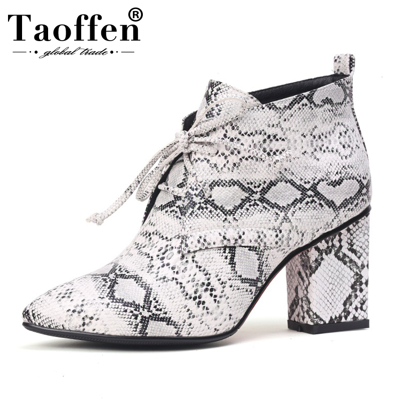 Taoffen Women High Heel Shoes Cross Strap Basic Pumps Thick Heel Office Lady Shoes Women Fashion