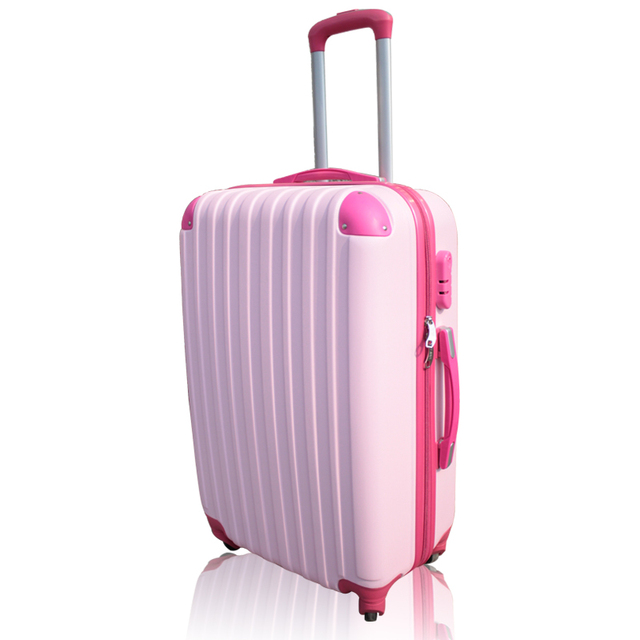 20 24 inch Hit color Boarding Trolley bag spinner wheels ABS+PC material women suitcase luggage for business and travelling bags