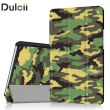 Dulcii for Huawei MediaPad M3 Tri-fold Stand Pattern Printing Leather Tablet Folio Casing for Huawei MediaPad M 3 8.4 Cover Bag