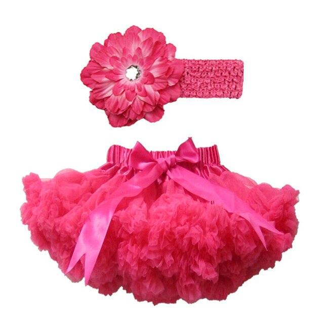 Hot Pink Chiffon Fluffy Ruffle Bottom Pettiskirt Set Soft Birthday Pettiskirt Tutu Set