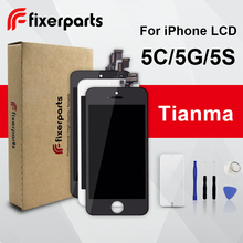 1pcs TIANMA LCD For iphone 5 5s 5c Display Touch Screen Digitizer Replacement Full Assembly for iPhone SE lcd With Tools Kit