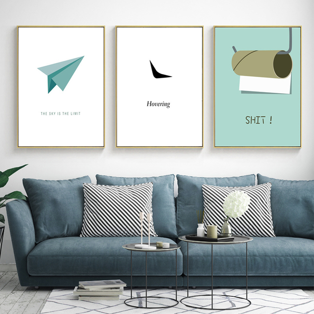Heycuadro Cartoon The Sky Children S Bedroom Wall Poster Prints Dining Room Home Decor Colorful Abstract No Frame Hc183005