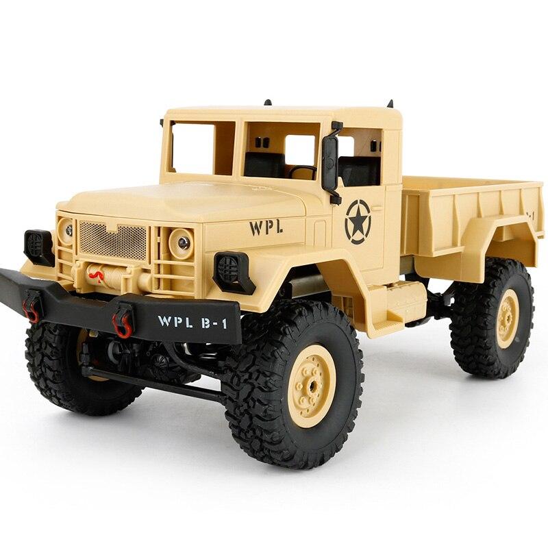 WPL B-1 1:16 Mini Off-road RC სამხედრო GAZ - დისტანციური მართვის სათამაშოები - ფოტო 2