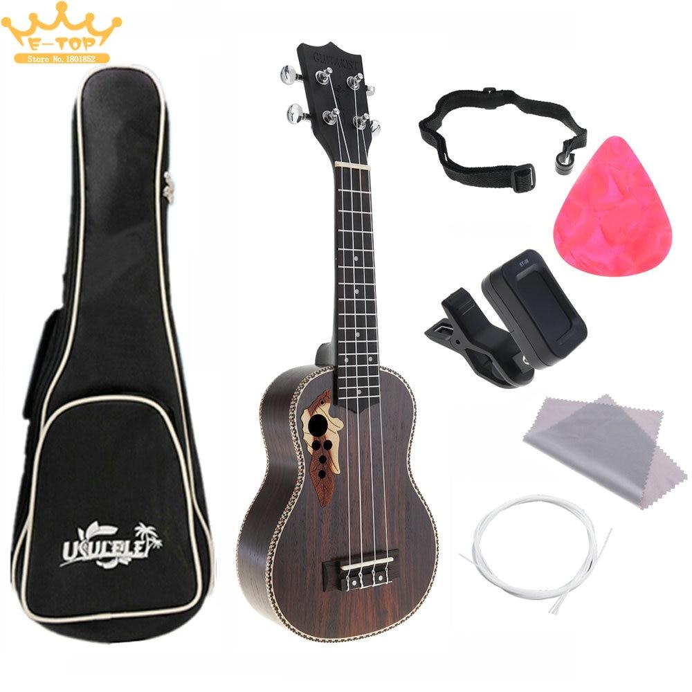 21 Inch 4 Strings Hawaii Guitar Guitarra Instrument Rosewood Acoustic Ukulele Full Kits savarez 510 cantiga series alliance cantiga normal high tension classical guitar strings full set 510arj