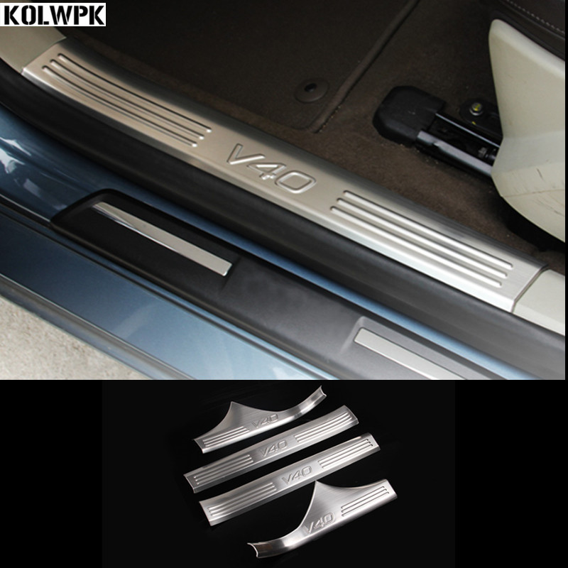 Car styling for Volvo V40 threshold bar modification special v40 welcome pedals rear guard plate protection