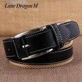 [Carril Del Dragón M] moda Para Hombre Cinturón de Lona Hebilla de Metal Pin Cinturón Táctico Hombres de La Correa de la Correa de Lona de Cuero Genuino D0057