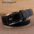 [Lane Dragon M] Fashion Mens Canvas Belt Buckle Metal Pin Tactical Belt Men Strap Belt Male Genuine Leather Canvas Belt D0057