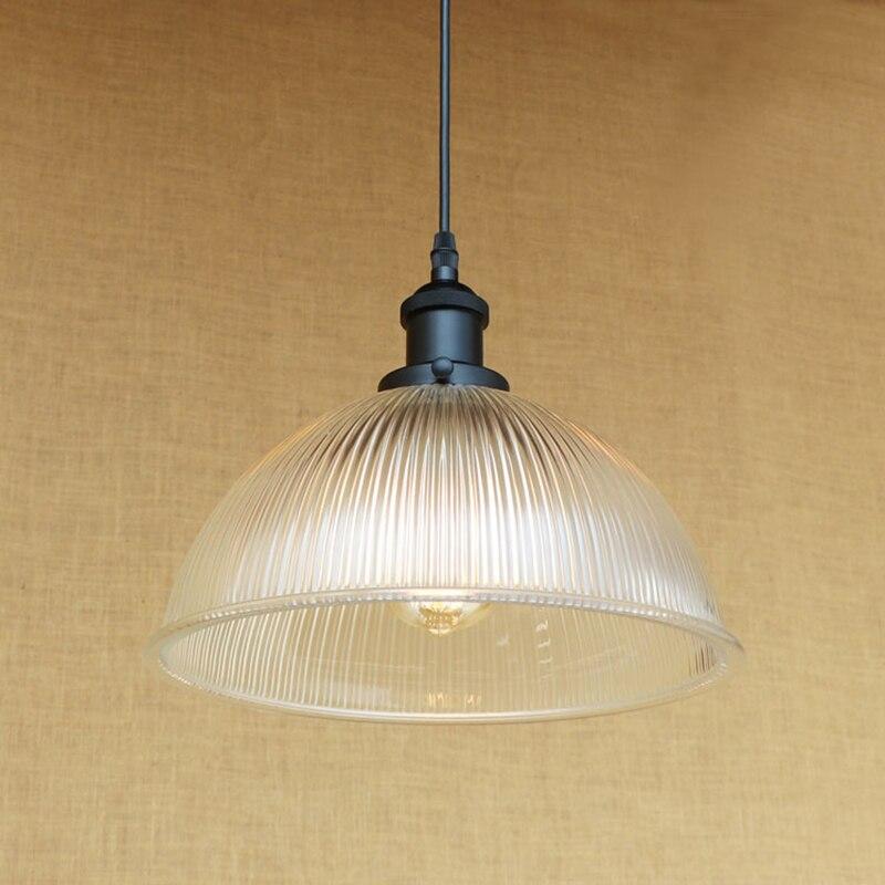 Modern Minimalist Vintage translucent glass shade pendant lamp E27 luminaire suspension LED Edison bulb 220v