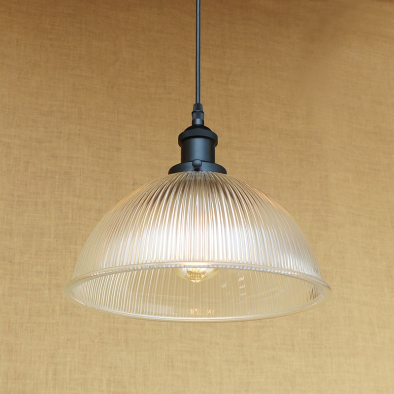 Modern Minimalist Vintage translucent glass shade pendant lamp E27 luminaire suspension LED Edison bulb 220v
