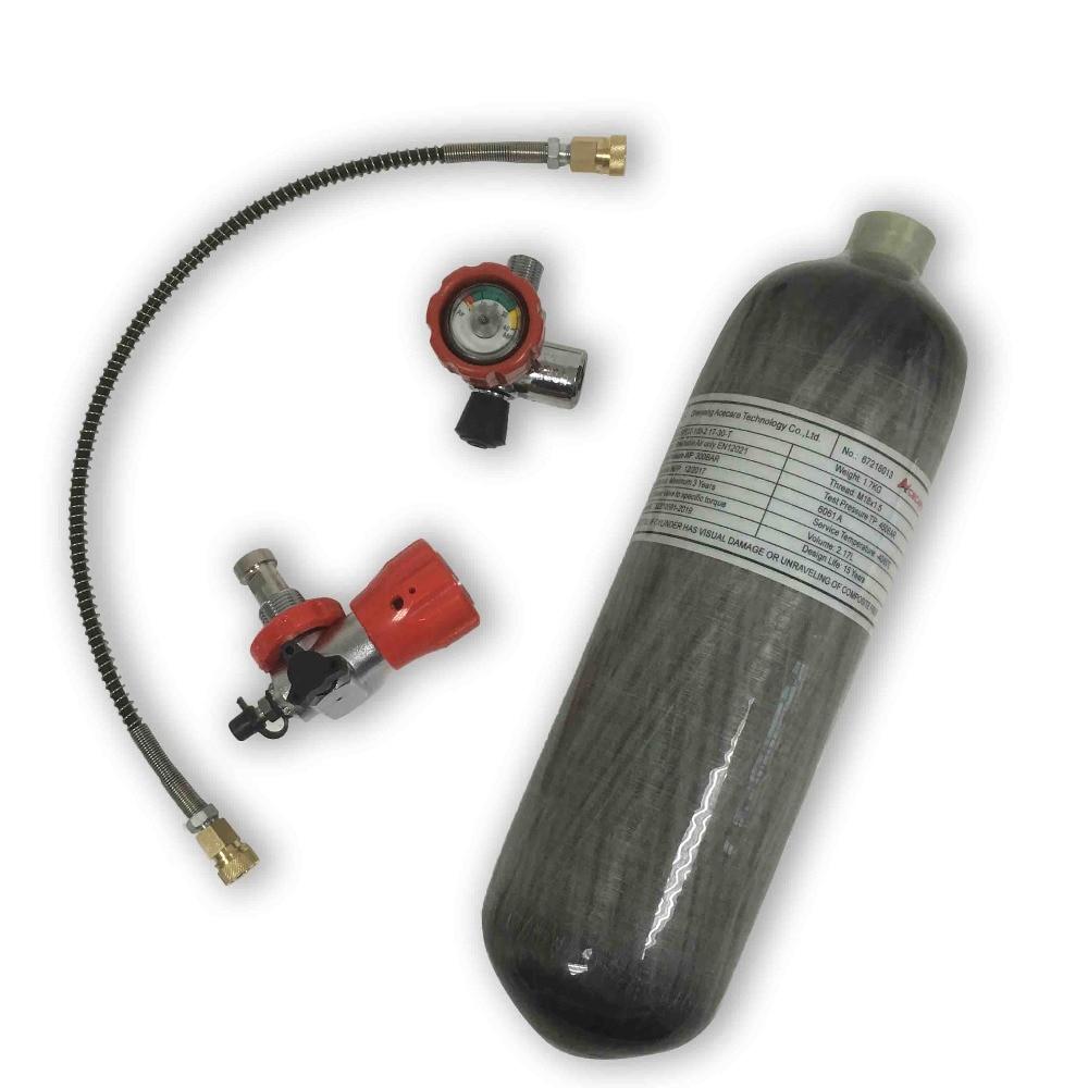 AC121711 Scuba Pcp Compressed Air Rifles 2.17L Gun Pellets Oxygen Cylinder Paintball Tank Carbon Co2 Airsoft Hpa Diving 300Bar
