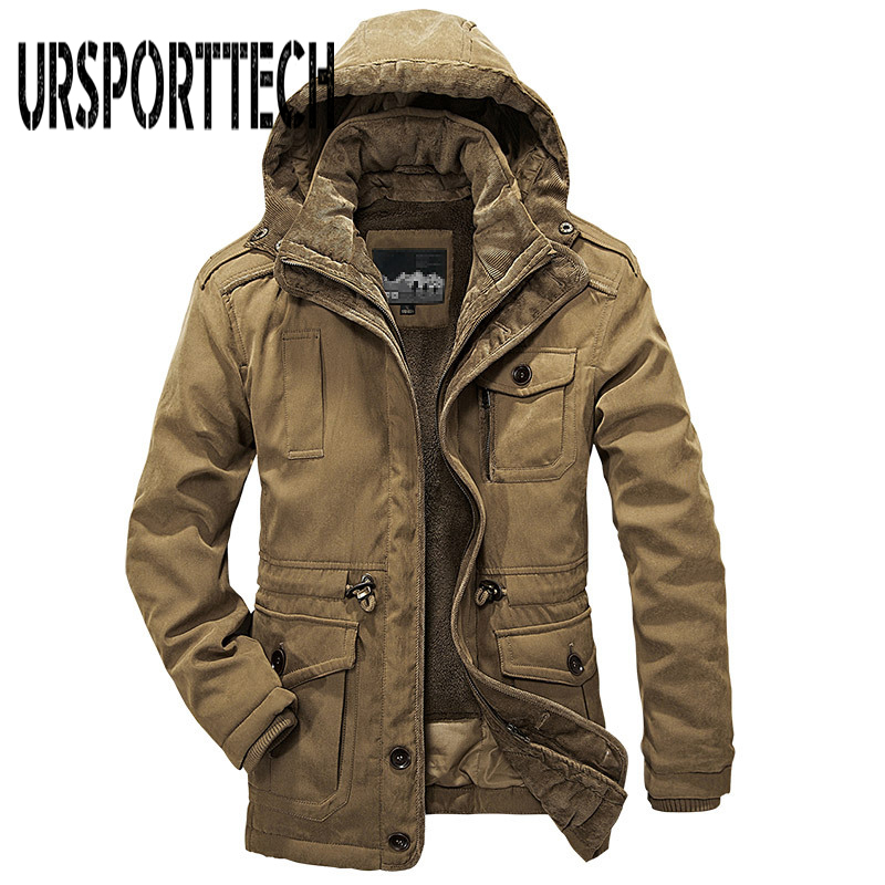 Plus Size L-4XL Men Warm Parkas 2017 New Brand Top Quality Heavy Wool Men Winter Jacket Men 2 in 1 Cotton Coat Outwear For Man new winter jacket men casual cotton thick warm coat men s outwear parkas brand fashion plus size 4xl coats jackets outwear t0057