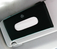 1pcs Top Quality Car Sun Visor Hanging Leather Tissue Boxes For Mercedes Benz C180 C200 C220