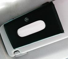 1pcs Top Quality Car Sun Visor Hanging Leather Tissue Boxes For Mercedes Benz C180 C200 C220 C230 250 C280 E200 E250 E280 E300