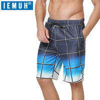 Новые повседневные шорты IEMUH пляжные шорты летние мужские шорты свободные с эластичной талией дышащие высококачественные быстросохнущие ш...
