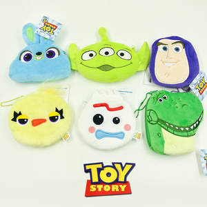 10*12cm Cartoon Toy Story Plush Purse Wallet Zip PP Cotton Purse Plush Bag Kids Girls Coin Purse Wallet Children Birythday Gift