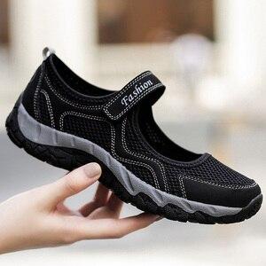 Image 2 - Zomer Mesh Sneakers Vrouwen Flats Schoenen Adem Wandelschoenen Loafers Casual Schoen Vrouwelijke Tenis antislip Fashion Sneaker Sapatos Feminino