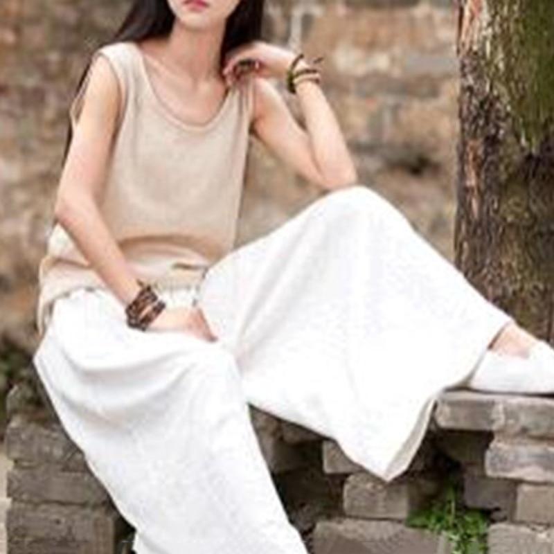 Women   Pants   Summer Leisure Solid Color Loose Ladies Casual Fashion Long Soft Female Elastic Waist   Wide     Leg     Pants   Hot New