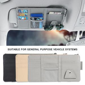 Image 1 - Universal Auto auto Sonnenblende Veranstalter Halter Lagerung Tasche TydyingCase für Karte Gläser Auto Zubehör Visier Multifunktionale Lagerung
