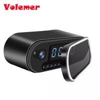 Volemer Mesa reloj Cámara alarma configuración 1080 p HD H.264 mini cámara de visión nocturna ir cámara IP WiFi reloj de la cámara mini DV DVR videocámara