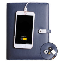 8GB Notebook With 6000 MAh Power Bank Notebooks PU Leather Notebook Business Gift Office Supply Writing