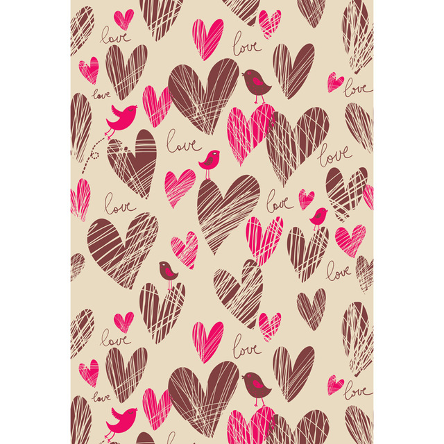 Custom Vinyl Cloth Love Hearts Pattern Wallpaper Photography Backdrops For Newborn Wedding Photo Studio Portrait Backgrounds In Background From