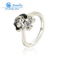 Distinctive Present Mens Ring Canine Animal Silver Ring Wholesale Jewellery GW High quality Jewellery RIPY021H20