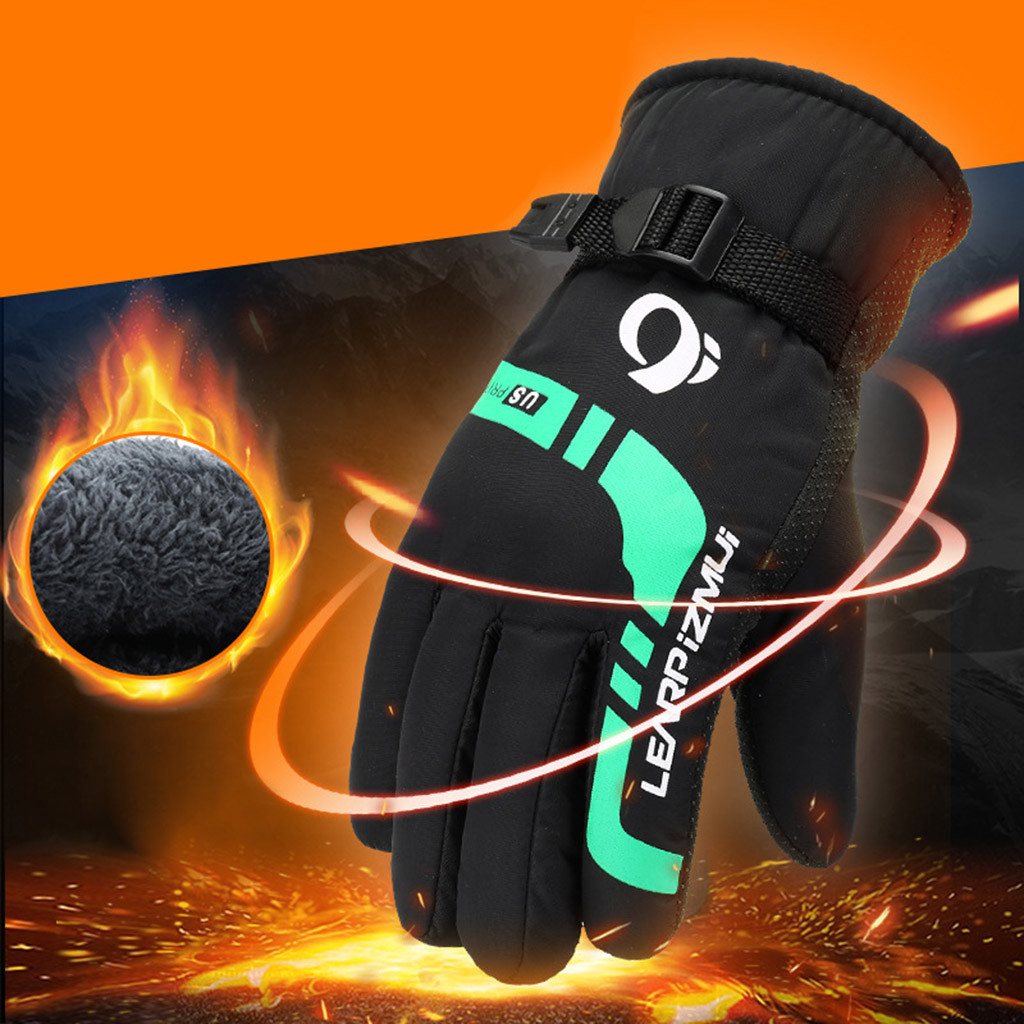 Responsible Hot Sale Men Winter Warm Thermal Ski Gloves Outdoor Motorcycle Riding Cycling Windproof Non-slip Thicken Snowboard Gloves High Quality Materials