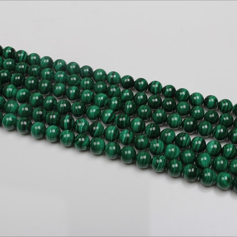 Baihande 6 8 10mm Natural AAA Round Malachite Stone Green Gemstone Loose Beads For Necklace Bracelet DIY Jewelry Making 15inch in Beads from Jewelry Accessories