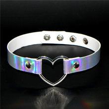 Necklace Buckle Collar Chokers Punk Heart-Chocker Women