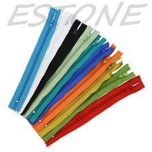 E74 10 X Color de Nylon de la Bobina Cremalleras Tailor Alcantarillado Craft 9 Pulgadas