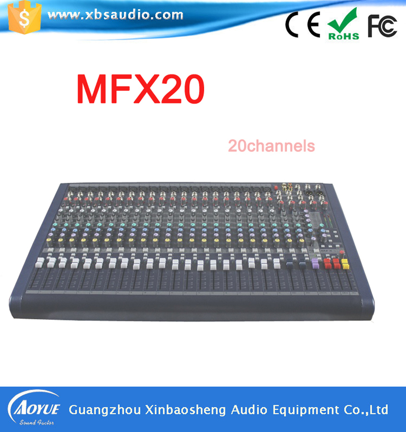 20 channel High Quality Professional Audio Mixer MFX20 Professional sound power mixer