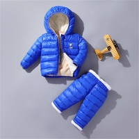 BibiCola Winter Clothing Sets For Boys Kids Fashion Hooded Warm Down Parkas Fashion Thick Snowsuit Children Warm Girl's Outfits