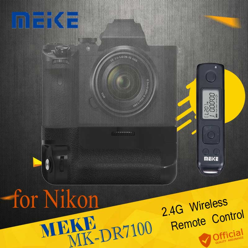 Meike MK-DR7100 2.4Ghz Wireless Remote Control Multi-Power Vertical Battery Grip Shutter for Nikon D7100 D7200 EN-EL15 as MB-D15 meike mk dr750 vertical battery grip pack holder for nikon d750 rechargeable li ion battery for nikon en el15 cleaning kit