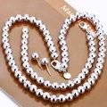 Moda 925 plata de la joyería de plata esferas de cadenas, collares de plata, pulseras perno prisionero S082