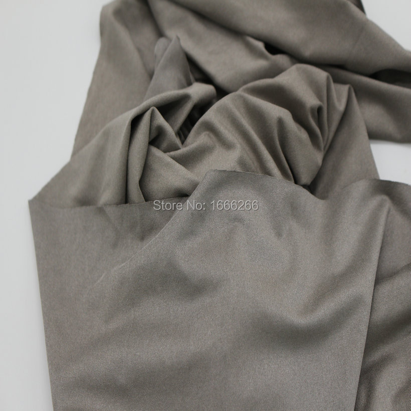 BLOCK EMF 100% silver fiber Fabric 4-way stretch fabric antibacterial fabric used for garment cloth BLOCK EMF 100% silver fiber Fabric 4-way stretch fabric antibacterial fabric used for garment cloth