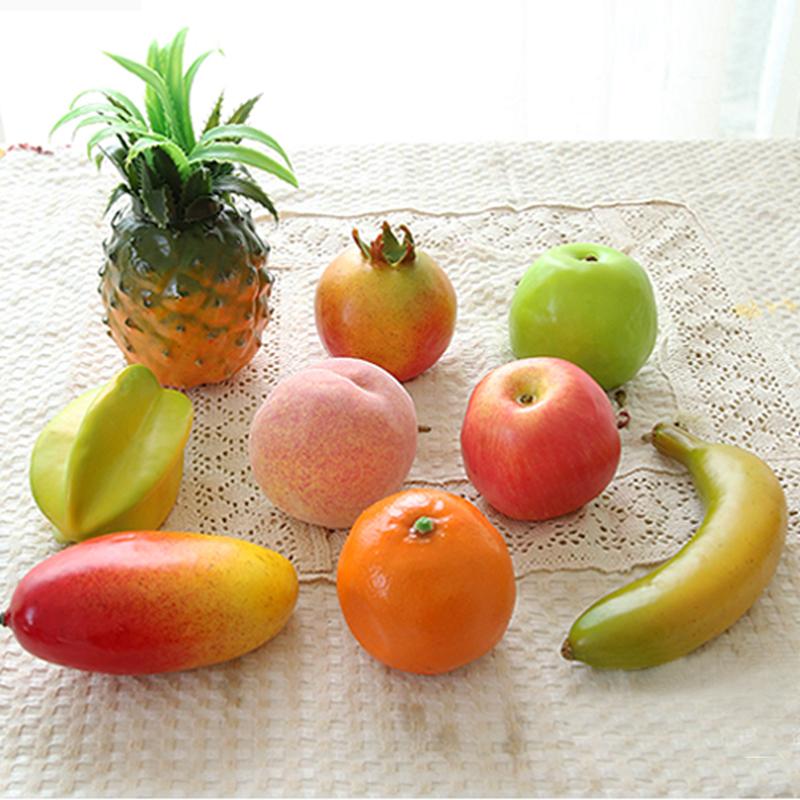 9 Pçs/lote Frutas Artificiais Realista Simulação De Frutas Para Casa E  Decoração Do Casamento