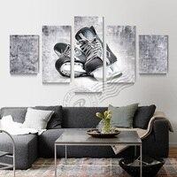 5 Bảng Điều Chỉnh Ice Hockey Giày Trượt Áp Phích Skate Sơn Dầu Hockey Hình Ảnh Tường Hình Ảnh Living Room Hockey Giày Poster Unframd