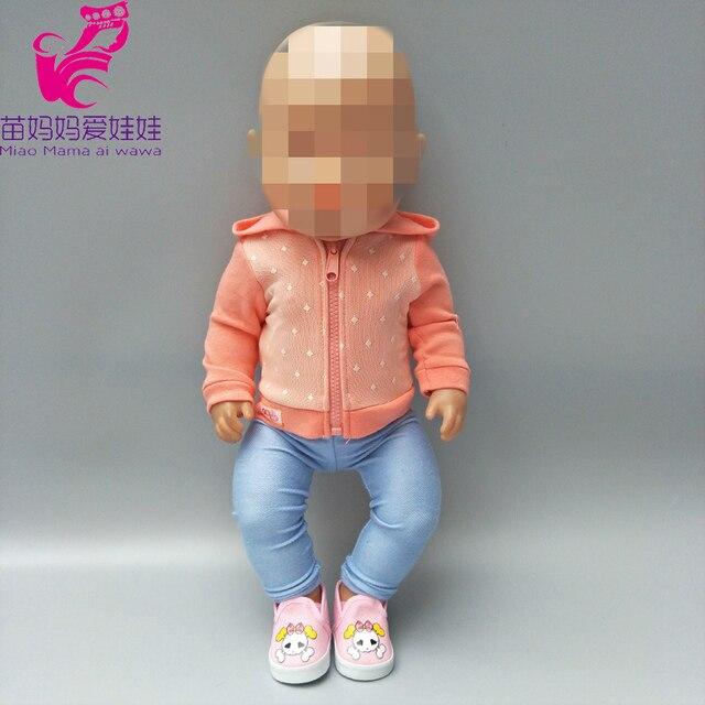 Casaco esporte roupa da boneca roupas de boneca 18 polegada set Fit For 43 centímetros Boneca roupas vestido Desgaste Do Bebê crianças presentes