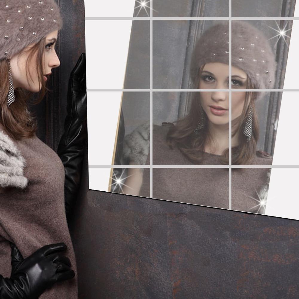 Vruće ogledalo ogledalo s kvadratnim odrazom 15 cm x 15 cm na zidu - Kućni dekor - Foto 3