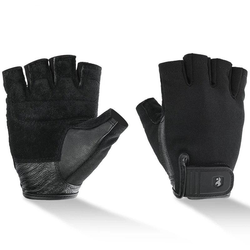 Erkek Spor Eldiven Halter Deri Eldiven için egzersiz Vücut Geliştirme Ekipmanları Spor Eldiven Yarım parmak Ücretsiz kargo