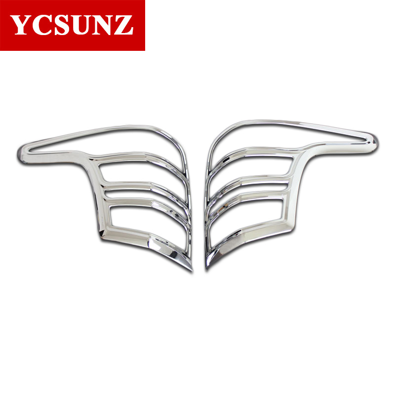 2016-2017 Chrome Tail Lights Cover For Mitsubishi L200 Triton Rear Lamp Cover For Mitsubishi L200 Accessories Car Styling Ycsunz high quality chrome tail light cover for mitsubishi l200 triton free shipping