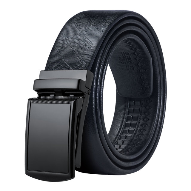 Hi-Tie Brand Men Designer Belts for Gift High Quality Automatic Buckle Lether Belt Men Trouser Jeens Wide Leather Belt PH-061