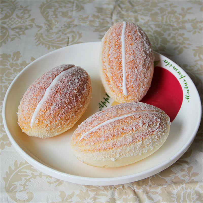 1pcs Bread Squishy Slow Rising Squeeze Anti-stress Toy Simulation Croissant Food Decoration Pretend Play Kitchen Toys Fun Gifts