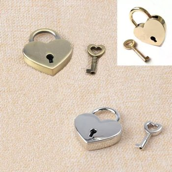Heart Lock- Silver or Gold Heart Lock - Padlock Slave to Love Functional