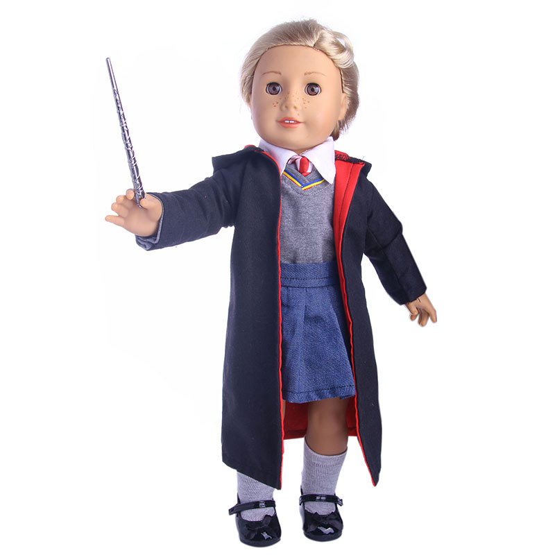 Hogwarts School of Magic School uniforms for 18 inch American girl doll for baby gift,Doll accessories