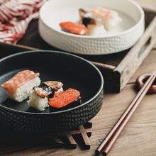 christmas ceramic  hammer-eye pattern Western dish deep soup plate fruit bowl creative baked rice bowl salad bowl plate 5 6 8 inch japanese cherry blossom ceramic ramen bowl large instant noodle rice soup salad bowl container porcelain tableware