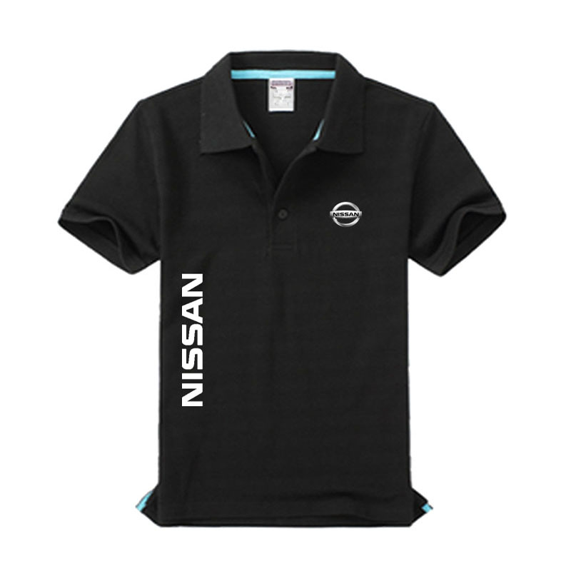 High quality Nissan logo   Polo   shirt brand clothing men's fashion casual   Polo   shirts
