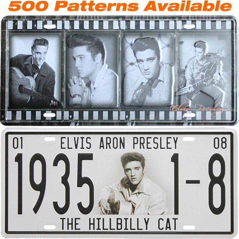 Elvis Presley ] Car License Plate USA Vintage Home Decor Tin Sign ...
