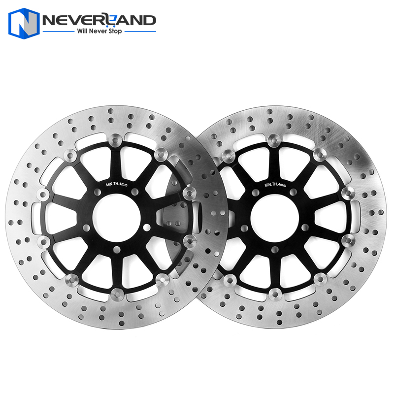2pcs Front Brake Disc Rotor For Suzuki GSXR 600 750 1997-2003/1000 2001-2002 Motorcycle mfs motor motorcycle part front rear brake discs rotor for yamaha yzf r6 2003 2004 2005 yzfr6 03 04 05 gold